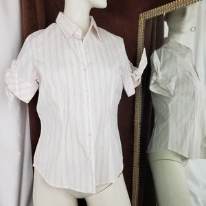 Classic Women Bow sleeve button up top